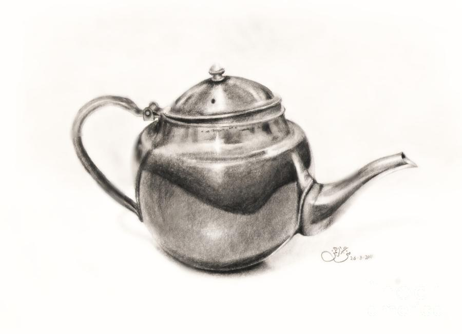 Metallic Jug Drawing