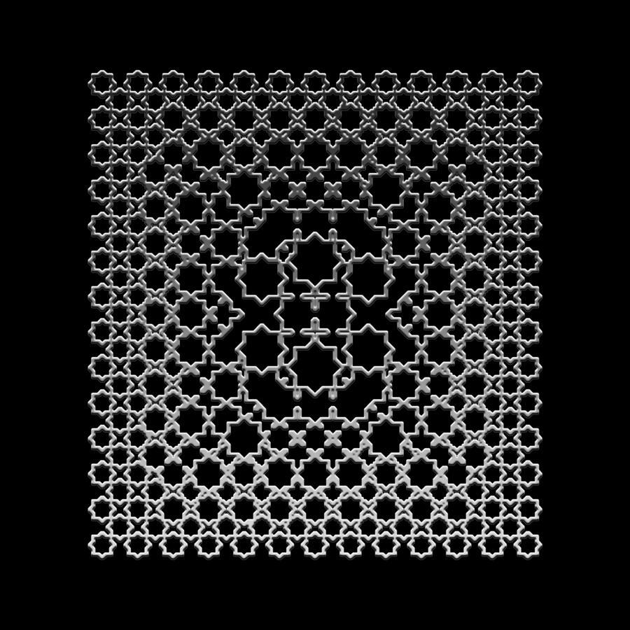 Metallic Lace Axxxv Digital Art