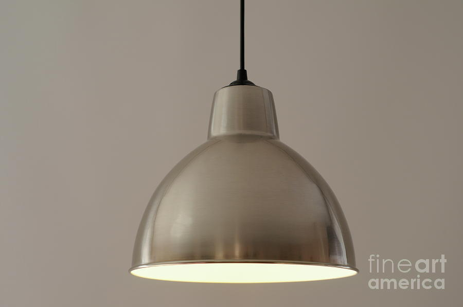 Metallic Lamp Shade Photograph