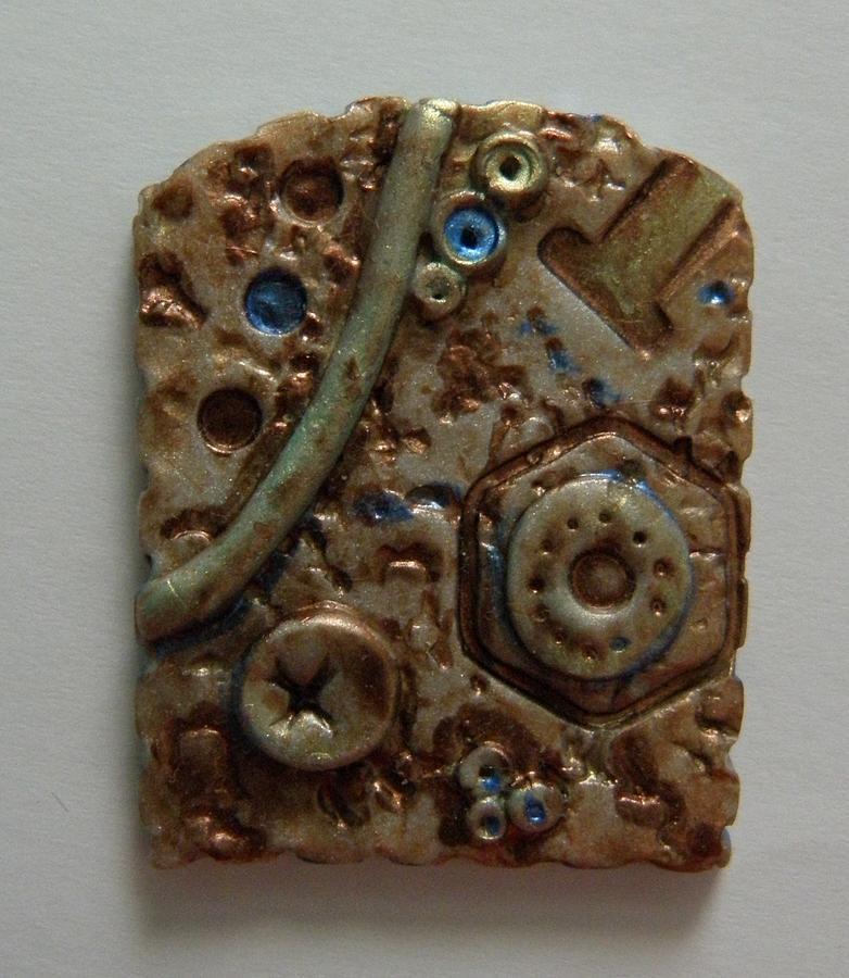 Metallic Wash Clay Pin Jewelry
