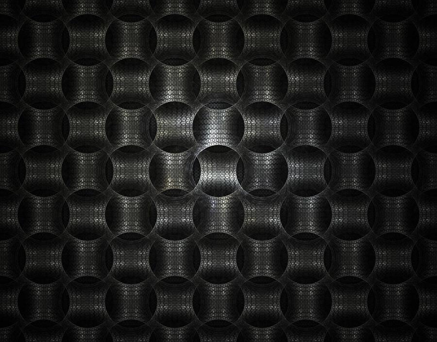 Metallic Weave Digital Art