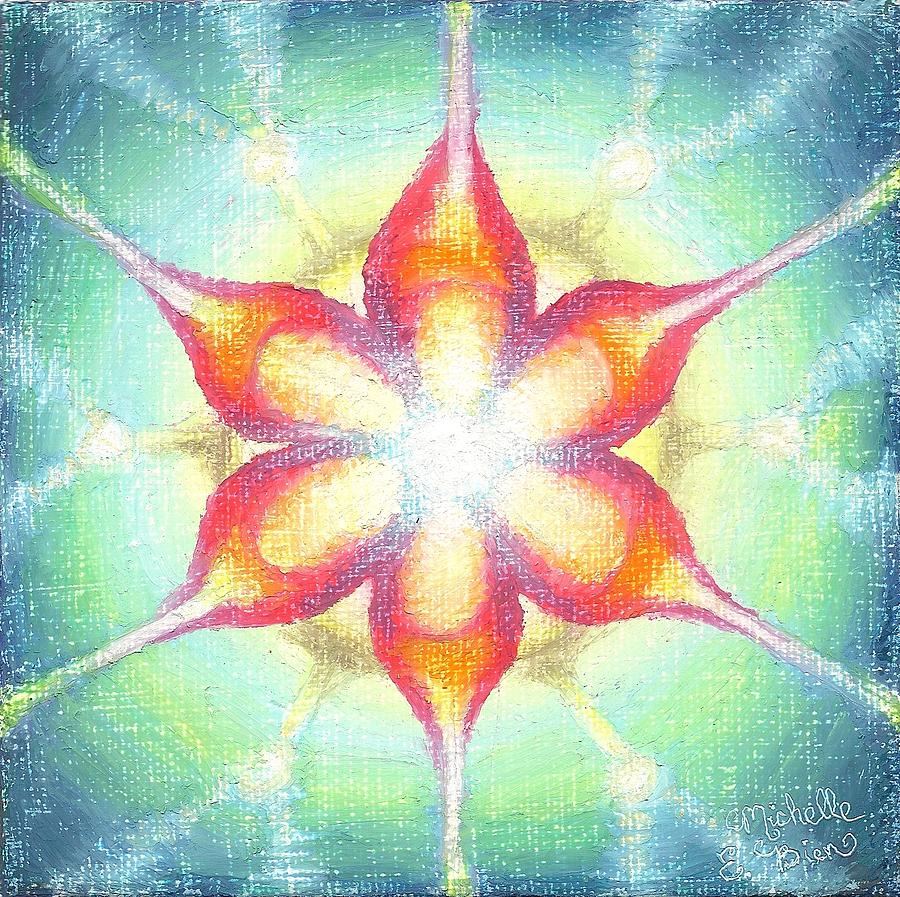 Metatron Star Mandala Painting  - Metatron Star Mandala Fine Art Print