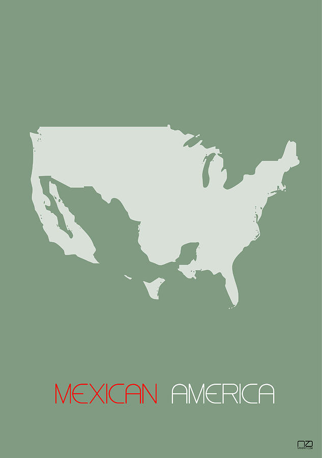 Mexico Digital Art - Mexican America Poster by Naxart Studio