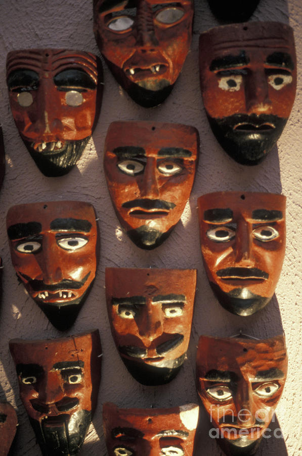 Mexican Devil Masks Photograph