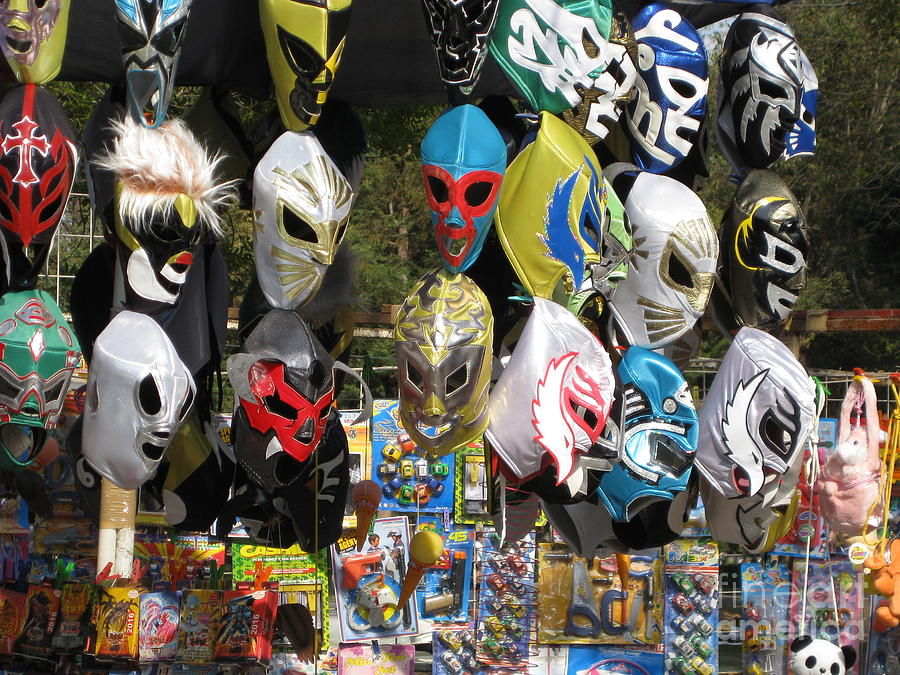 Mexican Masks Photograph  - Mexican Masks Fine Art Print