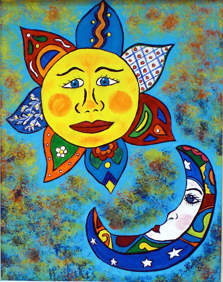 Mexican Sun And Moon by Nancy Wood