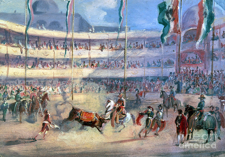 Mexico: Bullfight, 1833 Photograph  - Mexico: Bullfight, 1833 Fine Art Print