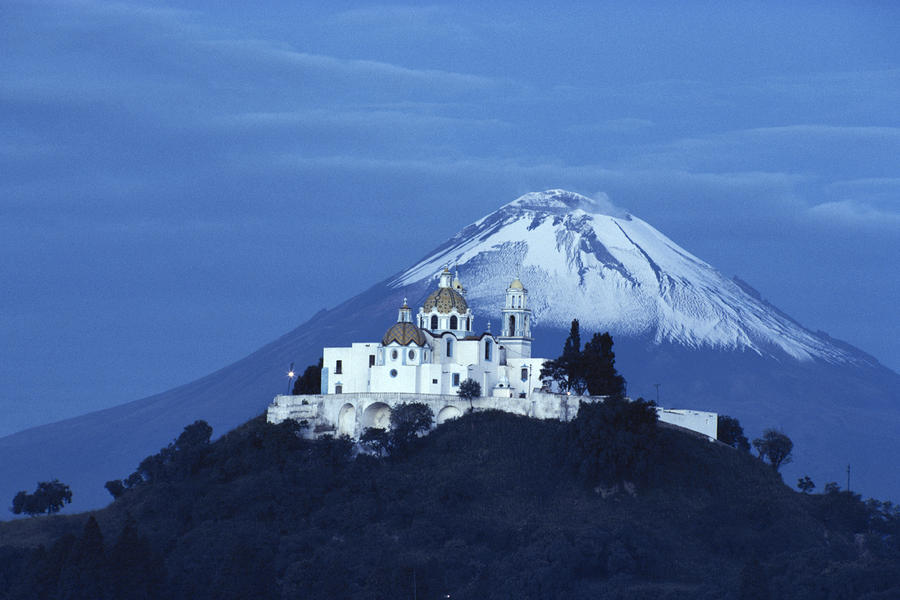 Mexico, Cholula, Catholic Church Photograph