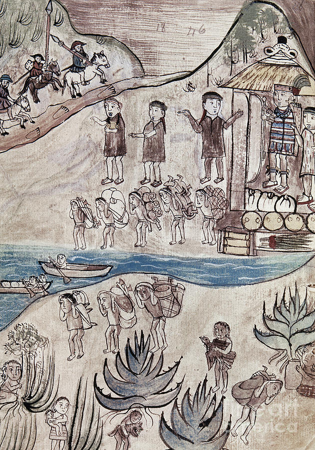 16th Century Painting - Mexico Indians C1500 by Granger