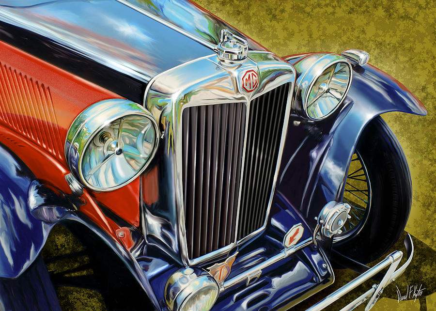 Mg Hood Detail Painting  - Mg Hood Detail Fine Art Print