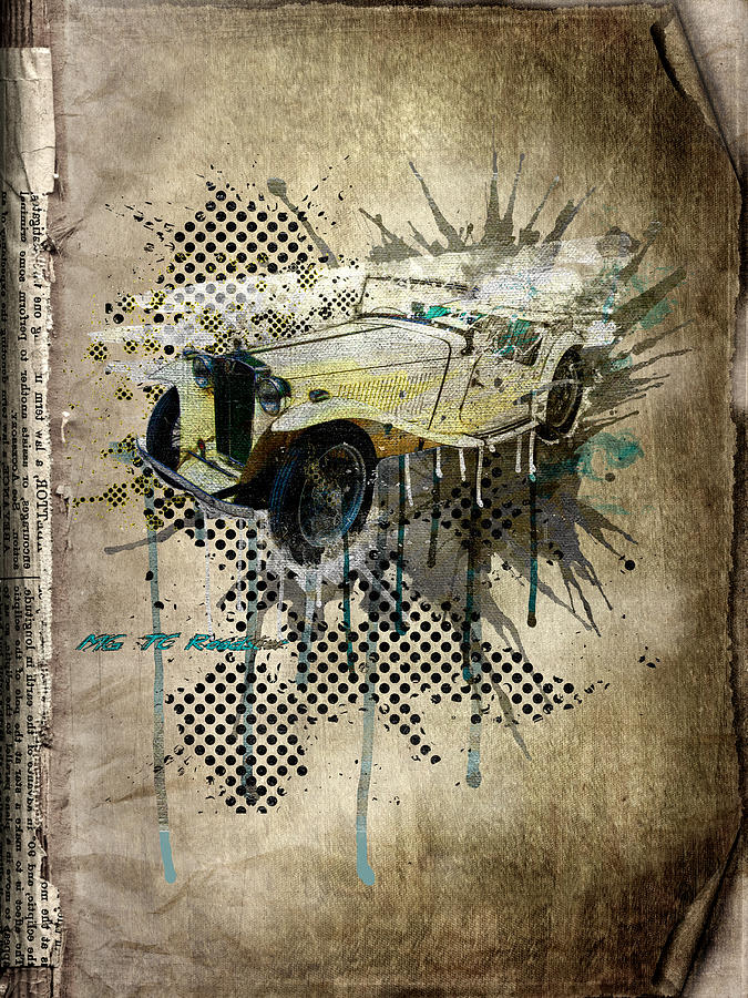 Mg Tc Roadster Digital Art  - Mg Tc Roadster Fine Art Print