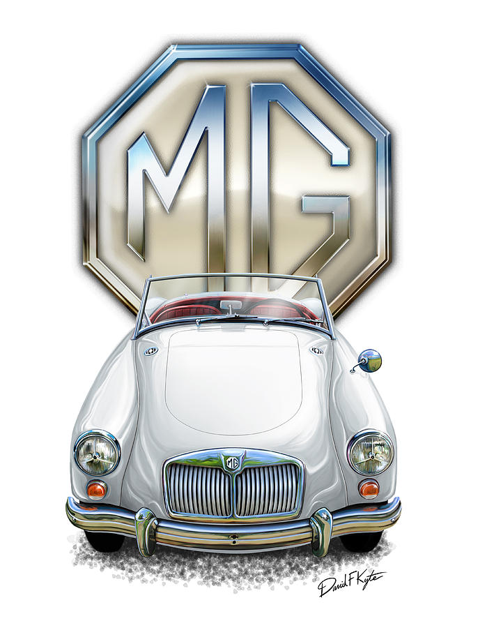 Mga White Red Interior Digital Art