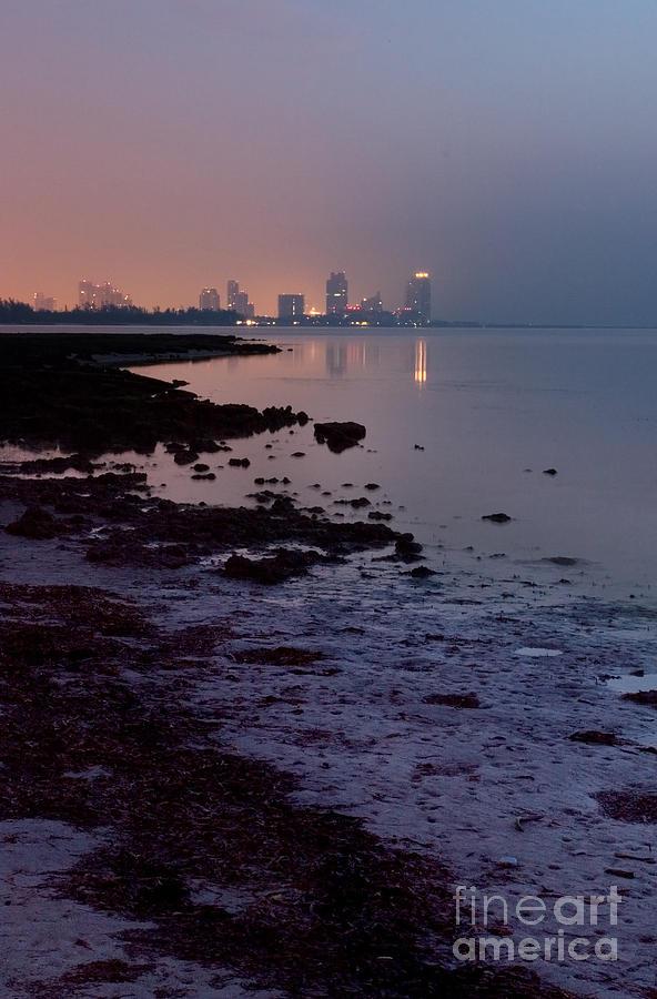 Miami Beach At Dawn Photograph