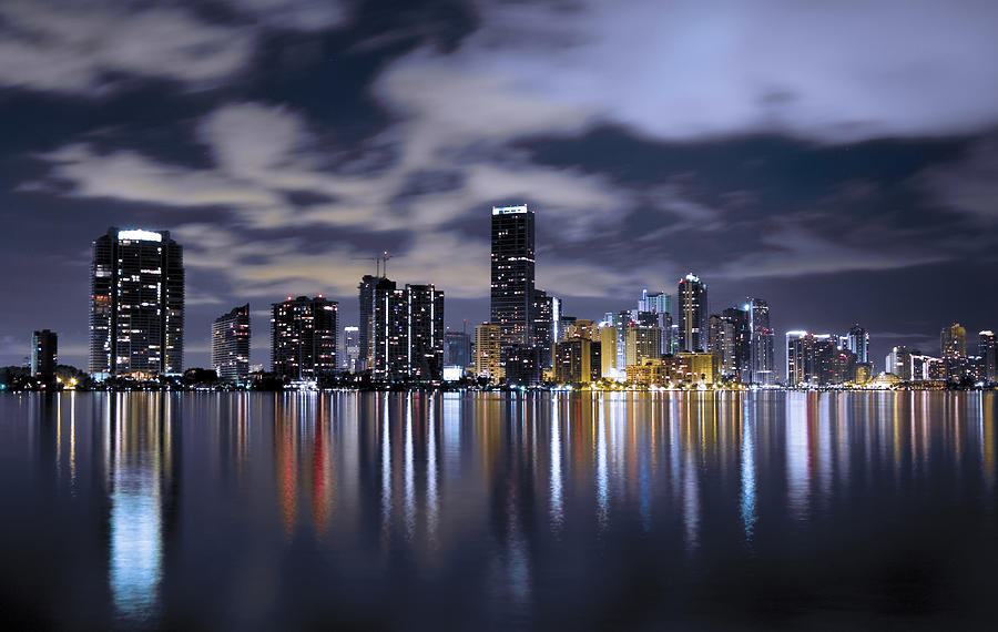 Miami Skyline Photograph  - Miami Skyline Fine Art Print