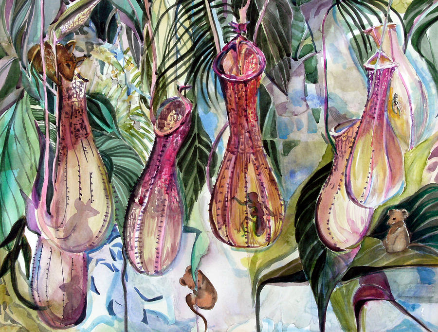 Mice In The Pitchers Painting  - Mice In The Pitchers Fine Art Print