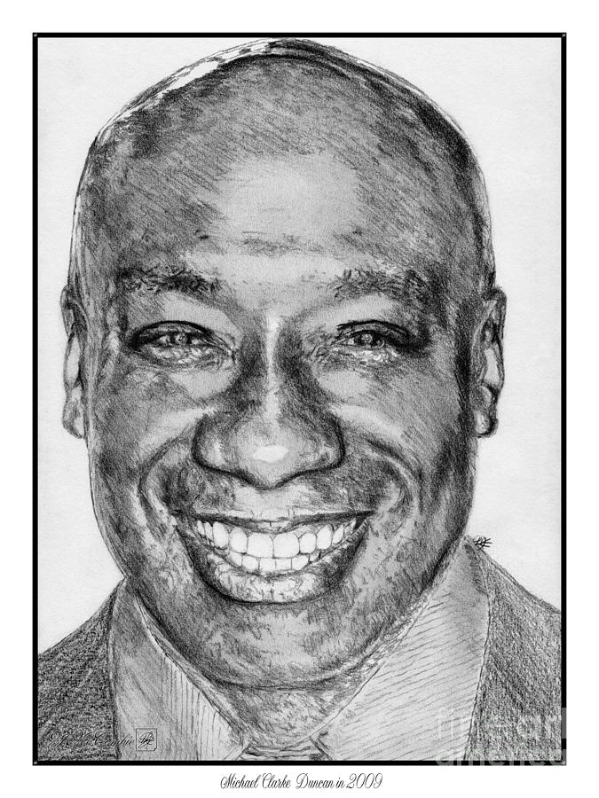 Michael Clarke Duncan In 2009 Drawing  - Michael Clarke Duncan In 2009 Fine Art Print