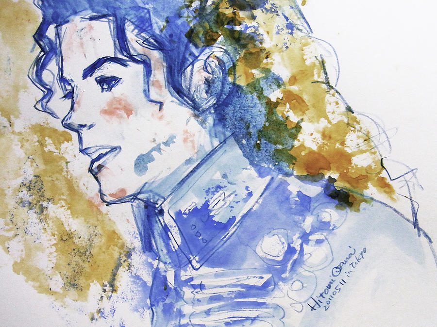 Michael Jackson - Bless You Painting  - Michael Jackson - Bless You Fine Art Print