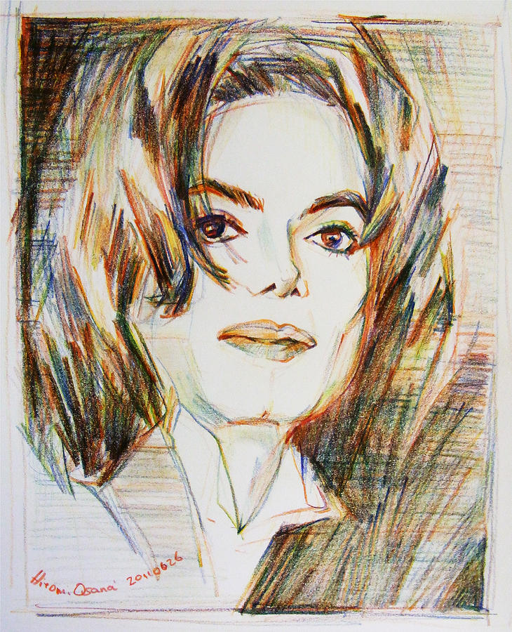 Michael Jackson - Indigo Child  Drawing  - Michael Jackson - Indigo Child  Fine Art Print