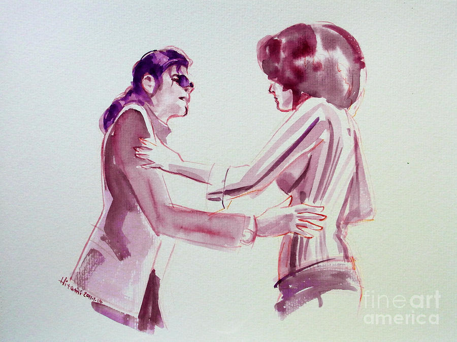 Michael Jackson - Just Cant Stop Loving You Painting