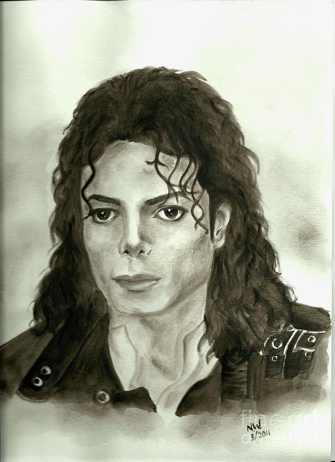 Michael Jackson - My Dreams My Life Painting  - Michael Jackson - My Dreams My Life Fine Art Print
