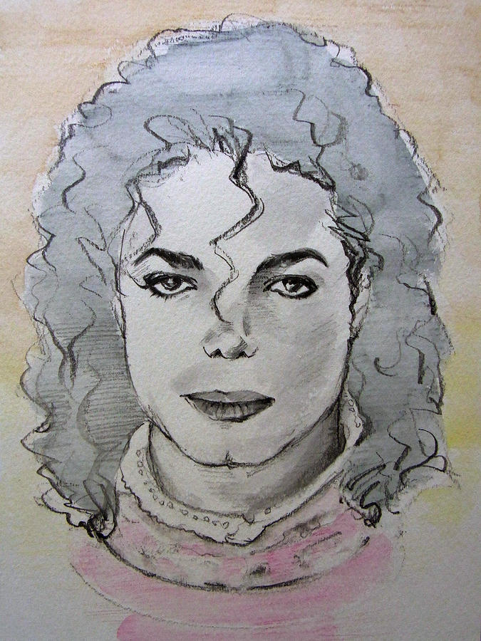 Michael Jackson - Planet Michael Drawing  - Michael Jackson - Planet Michael Fine Art Print