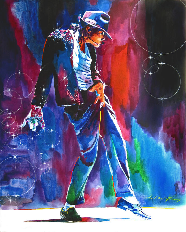Michael Jackson Action Painting  - Michael Jackson Action Fine Art Print