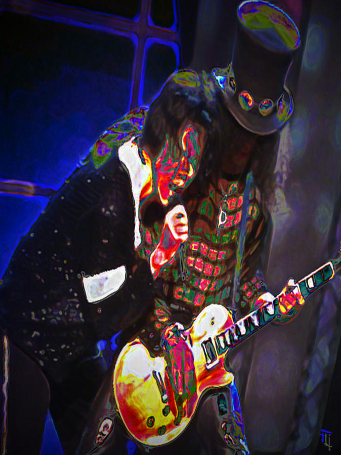 Michael Jackson And Slash Digital Art