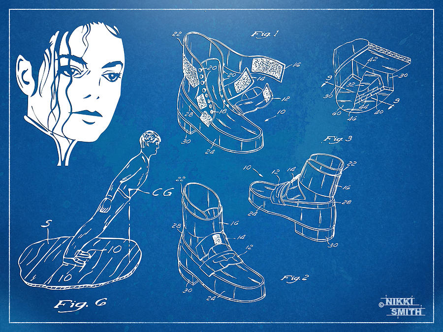 Michael Jackson Anti-gravity Shoe Patent Artwork Digital Art
