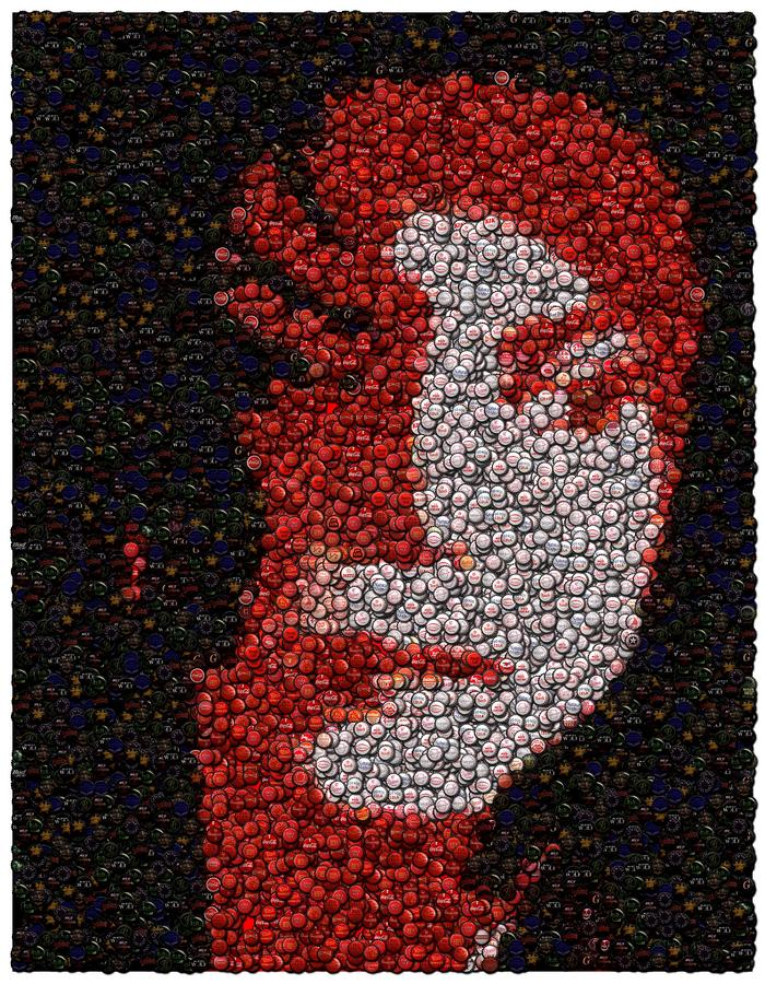 Michael Jackson Bottle Cap Mosaic Mixed Media