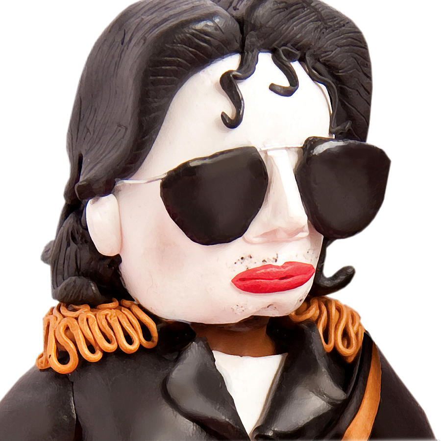 Michael Jackson Sculpture - Michael Jackson by Louisa Houchen