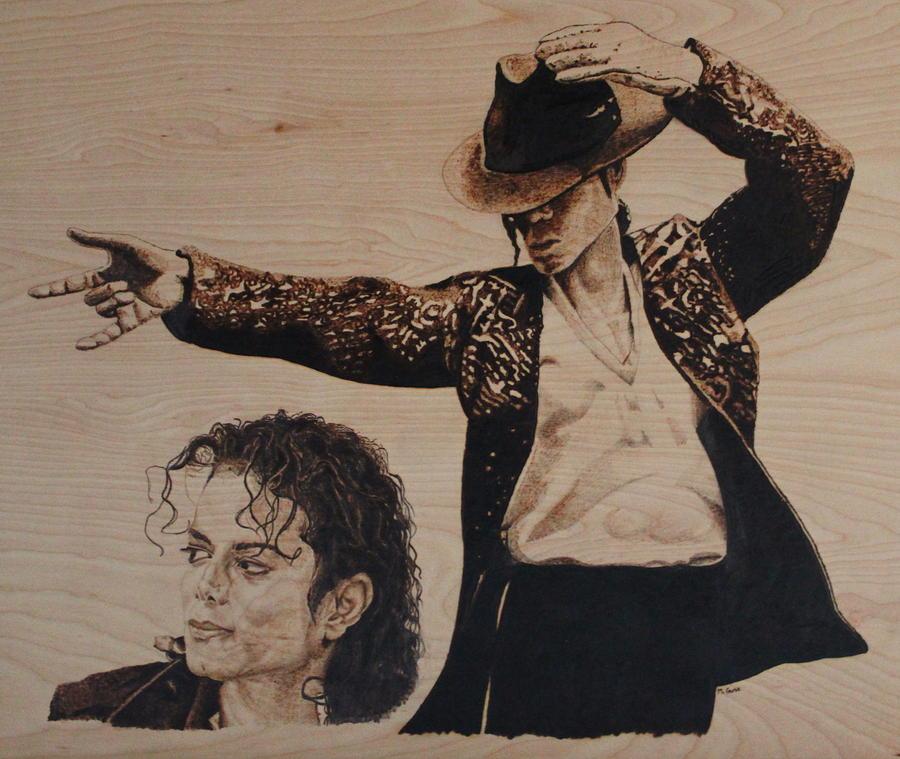 Michael Pyrography - Michael Jackson by Michael Garbe