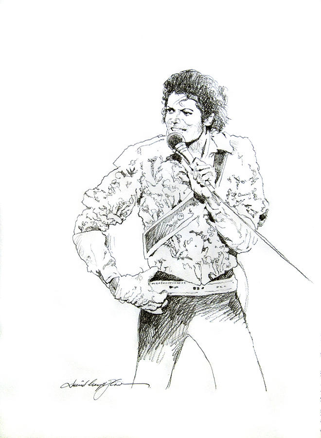 Michael Jackson Royalty Drawing  - Michael Jackson Royalty Fine Art Print