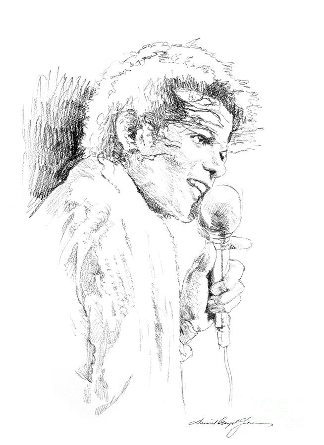 Michael Jackson Song Drawing  - Michael Jackson Song Fine Art Print
