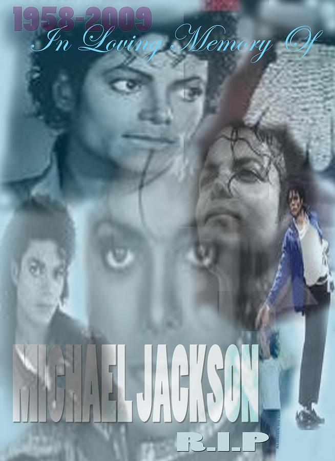 Michael Jackson Tribute Digital Art  - Michael Jackson Tribute Fine Art Print