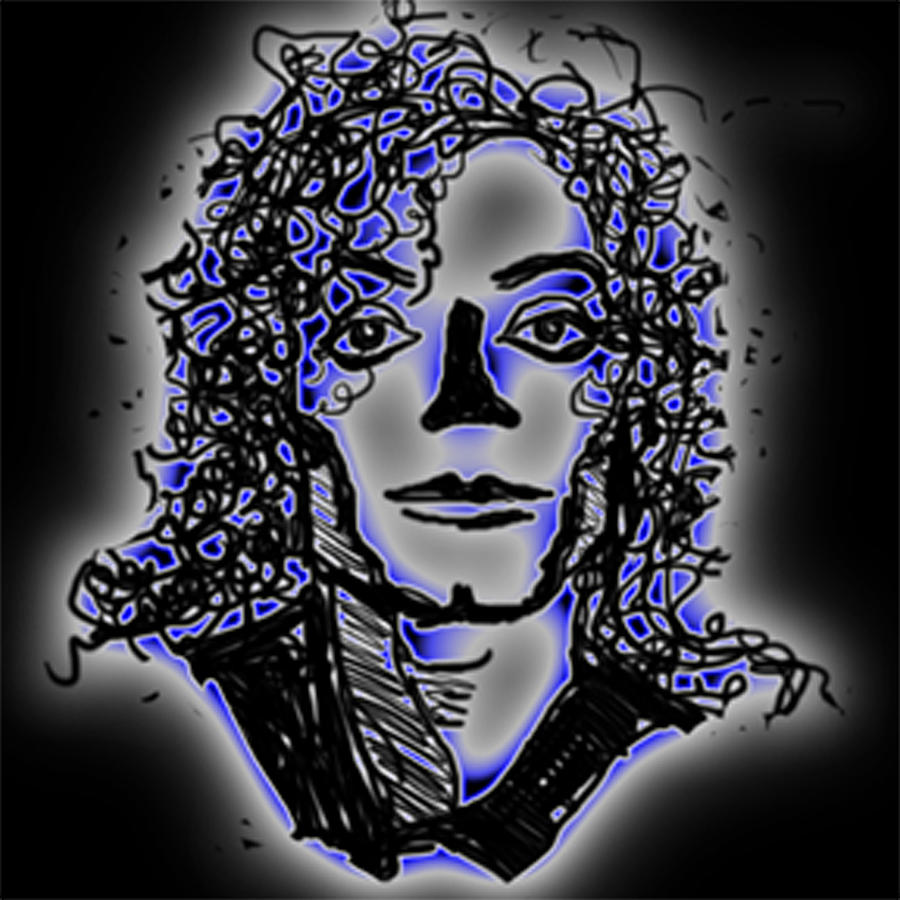 Michael Jackson Without A Nose Digital Art  - Michael Jackson Without A Nose Fine Art Print