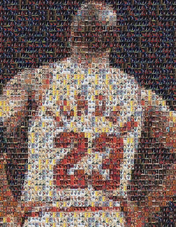 Michael Jordan Card Mosaic 2 Mixed Media