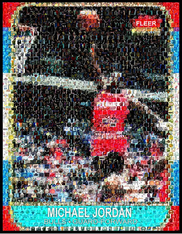 Michael Jordan Rookie Mosaic Digital Art  - Michael Jordan Rookie Mosaic Fine Art Print