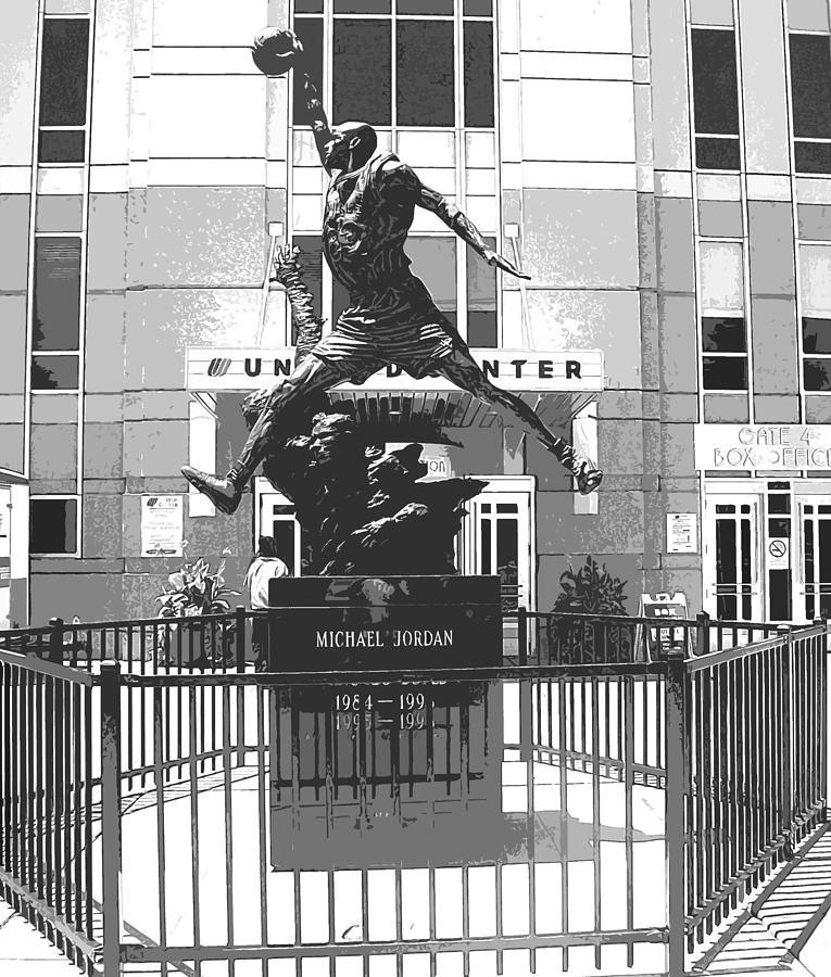 Michael Jordan Statue Photograph