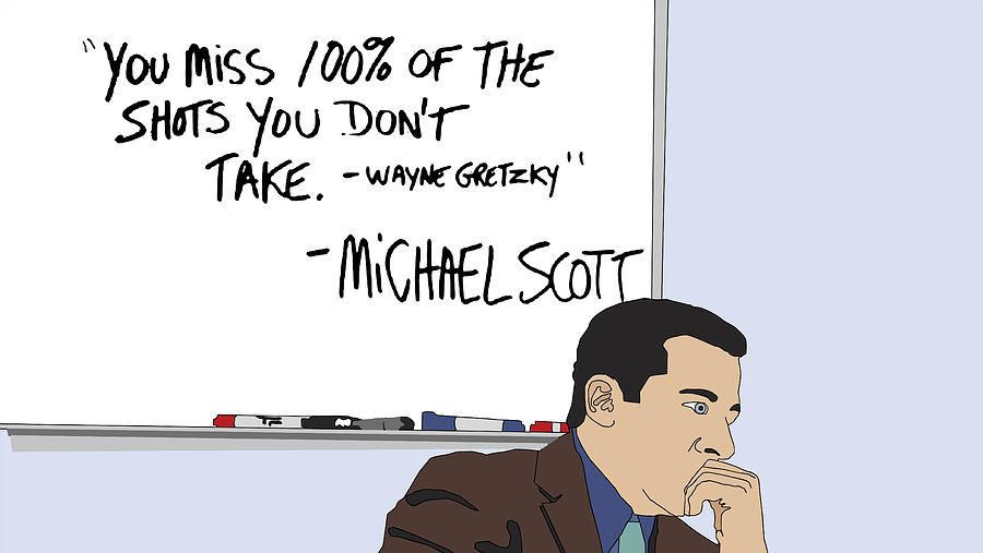 Michael Scott From The Office Digital Art  - Michael Scott From The Office Fine Art Print