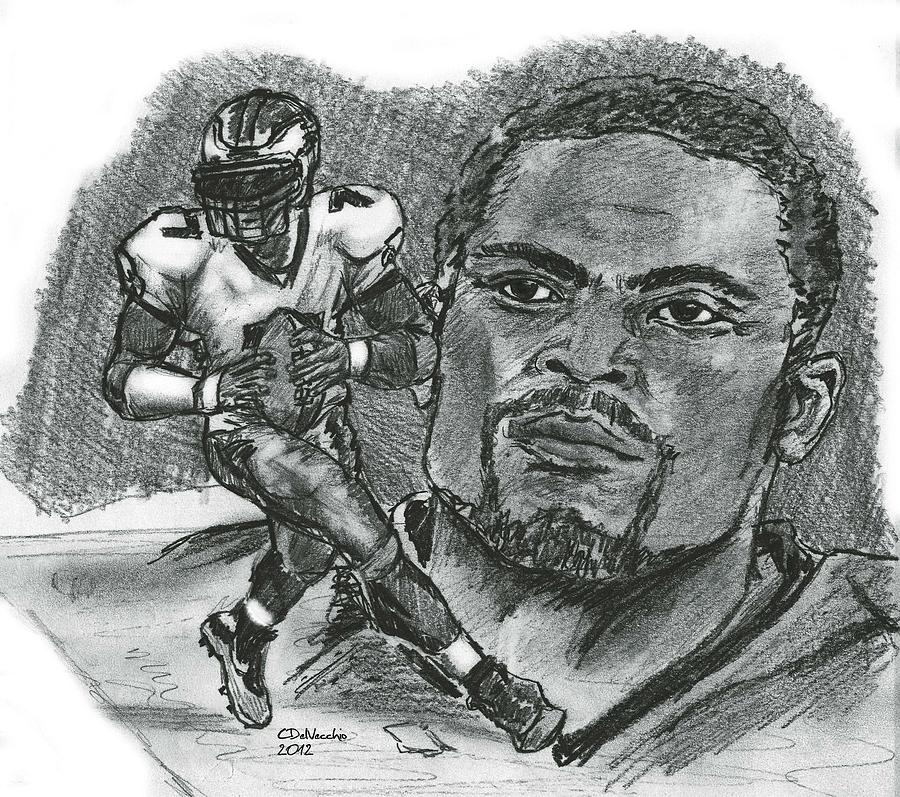 Michael Vick Drawing  - Michael Vick Fine Art Print