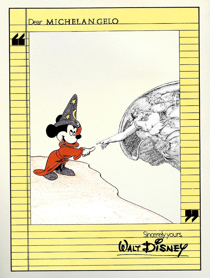 Michelangelos Creation Of Mickey Painting
