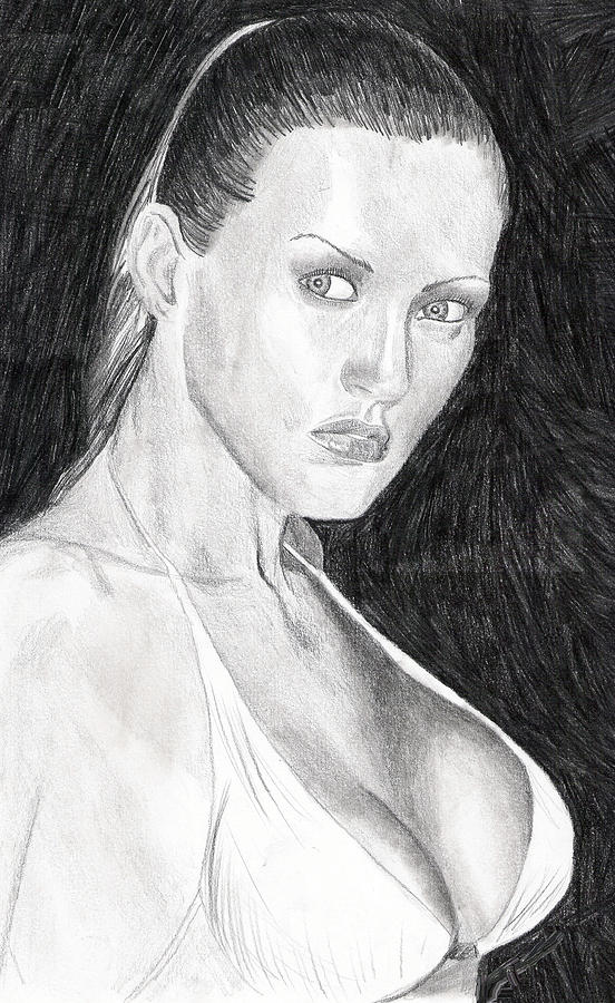 Michelle Drawing  - Michelle Fine Art Print