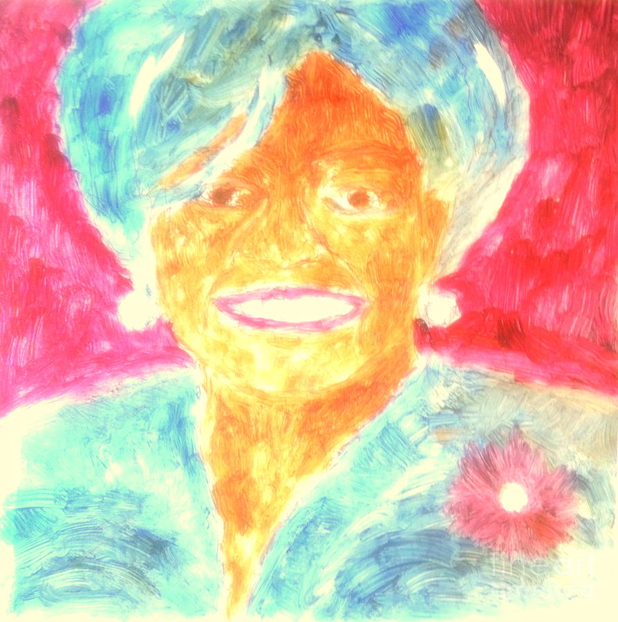 President Obama Painting - Michelle Obama 2 by Richard W Linford