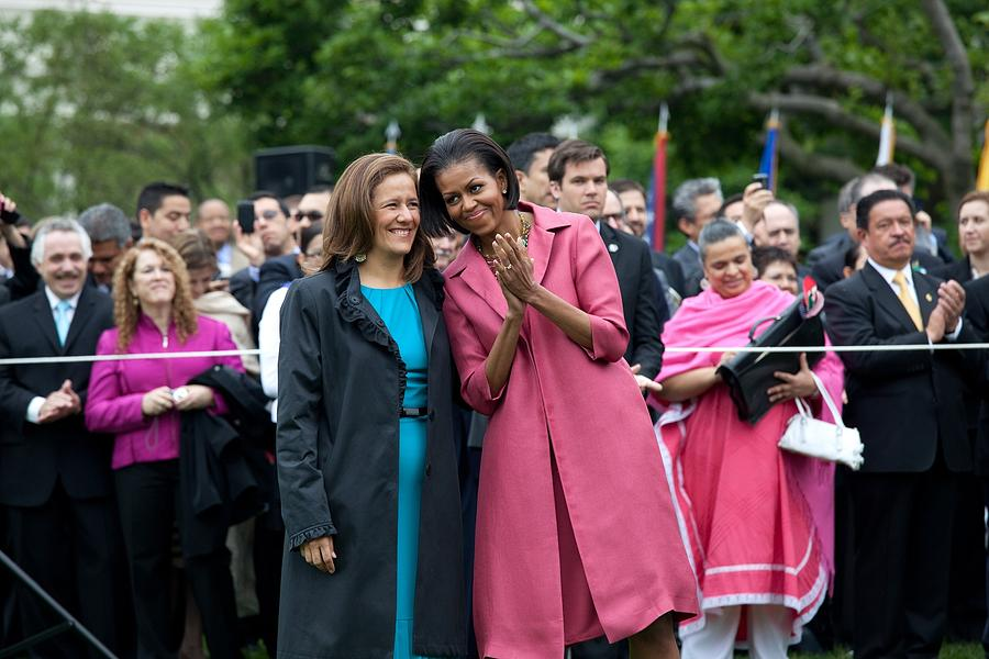 Michelle Obama And Mrs. Margarita Photograph