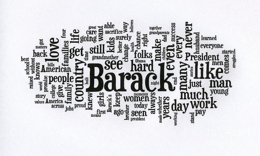 Michelle Obama Wordcloud At D N C Photograph