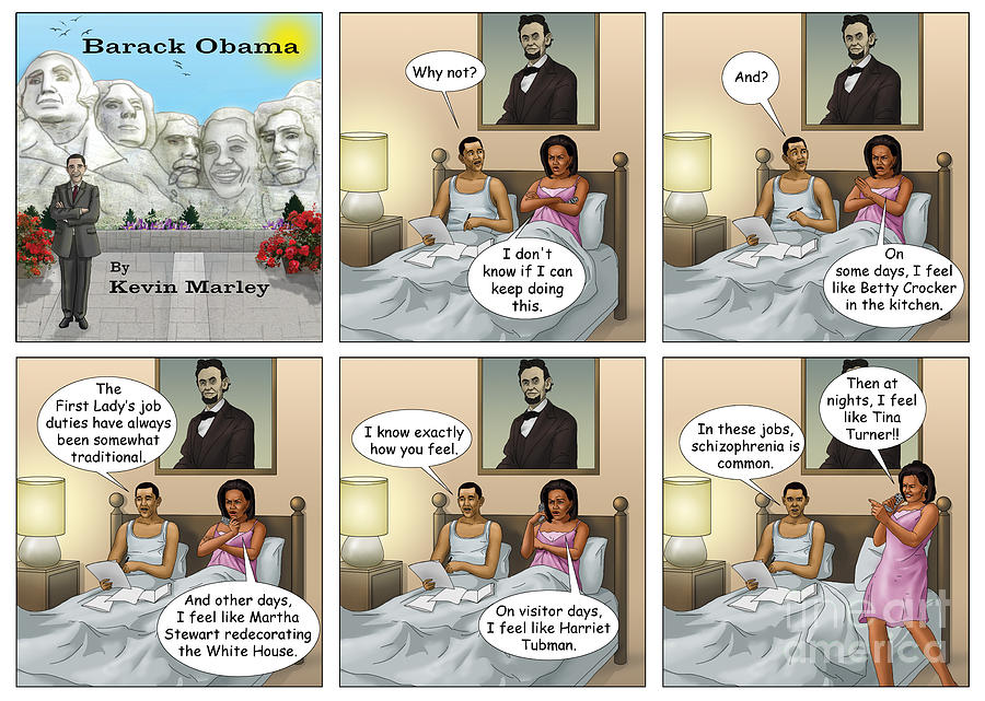 Barack  Obama Digital Art - Michelles Crisis  by Kevin  Marley