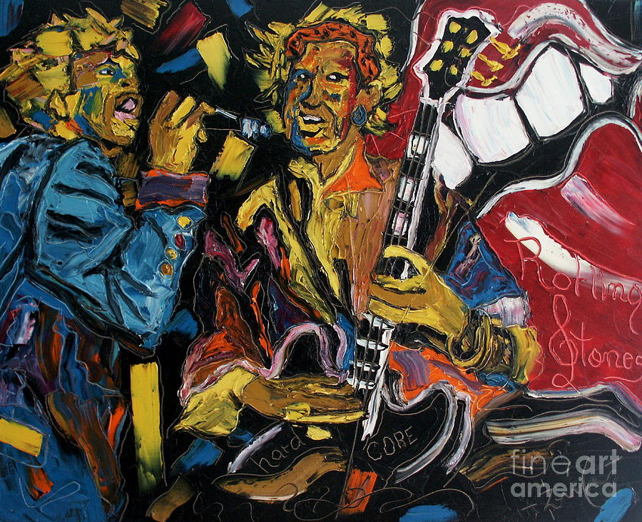 Mick And Keith Painting