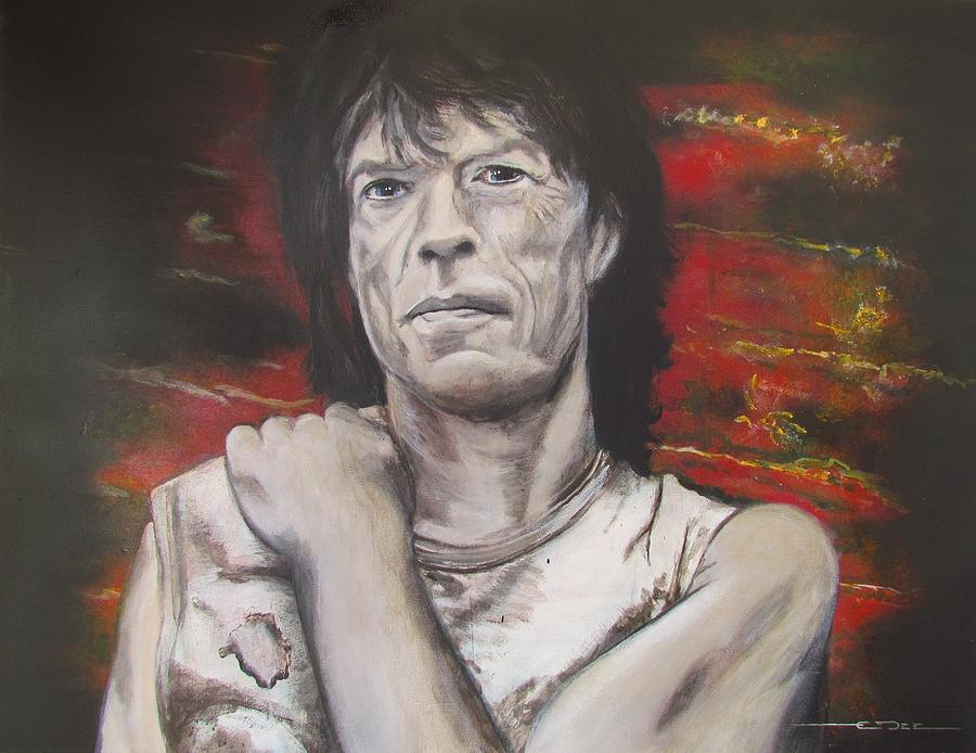 Mick Jagger - Street Fighting Man Painting  - Mick Jagger - Street Fighting Man Fine Art Print