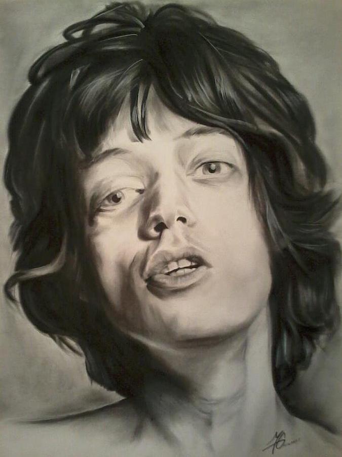 Mick Drawing - Mick Jagger by Morgan Greganti