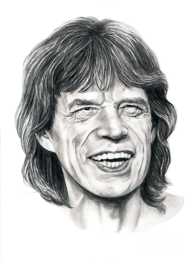 Mick Jagger Drawing  - Mick Jagger Fine Art Print